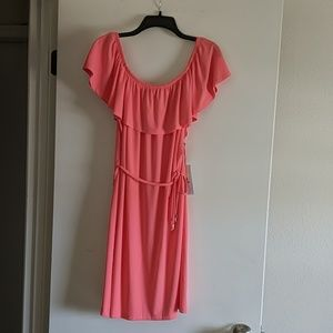 Ivanka Trump Sundress in Coral Size Large NWT